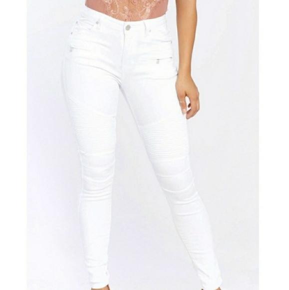 American Bazi Denim - White Highwaisted Jeans